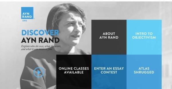 Um Novo Website para Ayn Rand