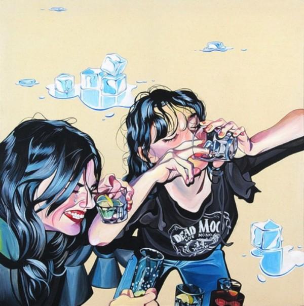 As pinturas de Leah Tinari
