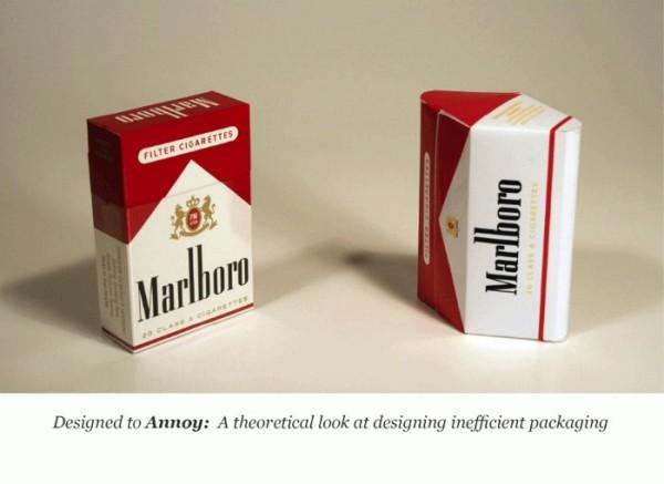 E se a embalagem de cigarro fosse feita para irritar quem fuma?