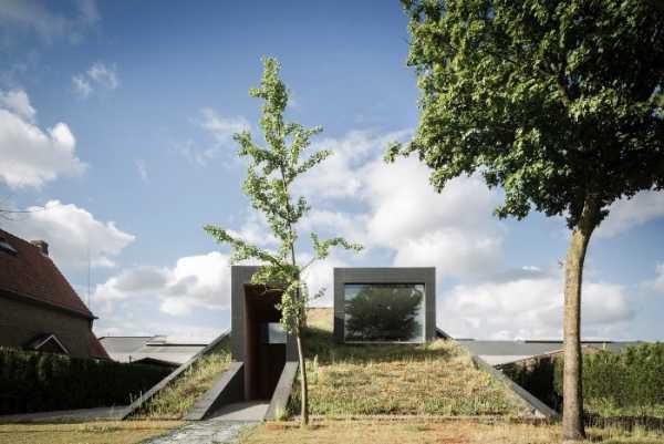 Uma Casa Semi Subterrânea na Bélgica