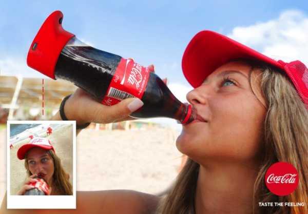 A Selfie Bottle da Coca Cola