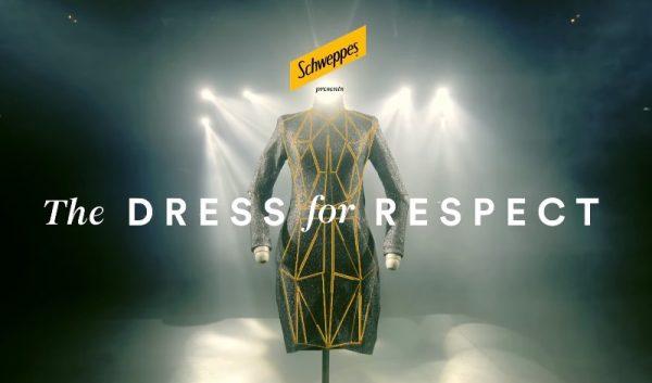 Um Vestido pelo Respeito em uma campanha da Schweppes Brasil