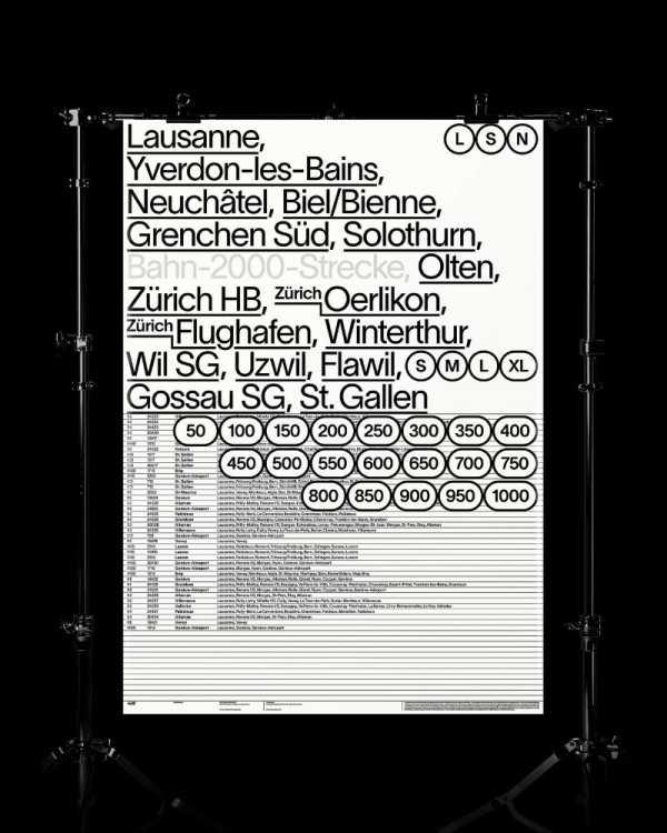 Lausanne é uma fonte que mostra o design de Nizar Kazan