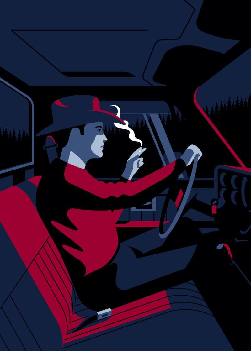 Jeremy Booth é um ilustrador baseado em Louisville, no estado americano de Kentucky. É de lá que ele cria suas obras que tem uma tendência a apontar para uma direção mais clássica do design. Algo que ele resolveu batizar de vector noir e que eu só posso concordar.