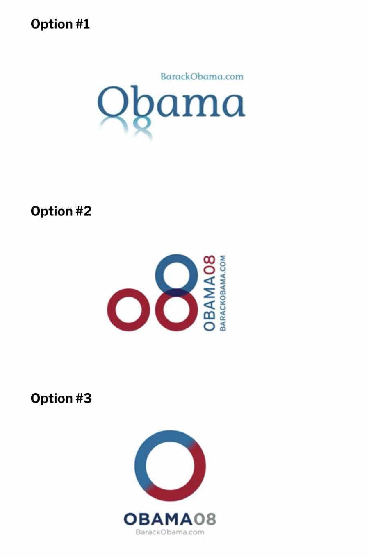 As imagens acima são dos 3 logos finalistas para a campanha que Barack Obama. No artigo abaixo, você ainda pode ver todos os outros logos que foram desenvolvidos e ler sobre a visão do designer quanto a todos eles. Leitura obrigatória.