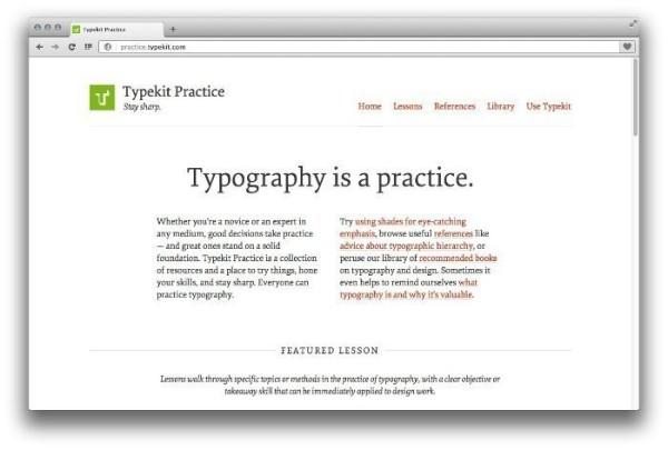 Aprendendo Tipografia com o Typekit Practice
