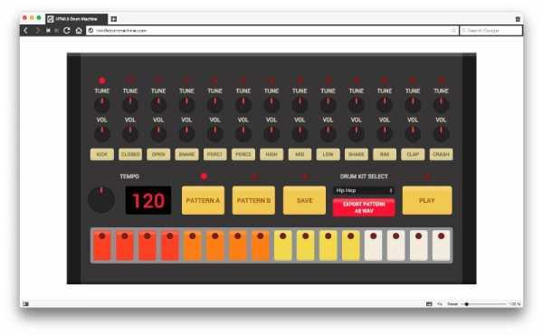 Se você resolver testar o HTML5 Drum Machine, você não vai fazer mais nada hoje