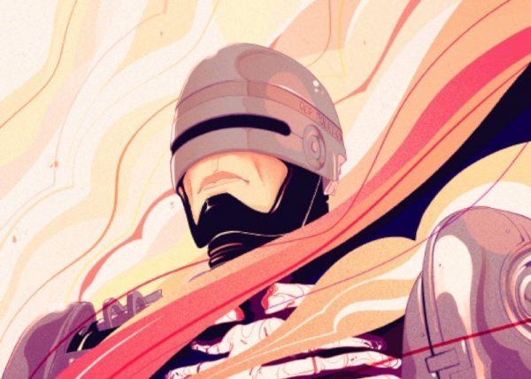 Goni Montes ilustra o Robocop