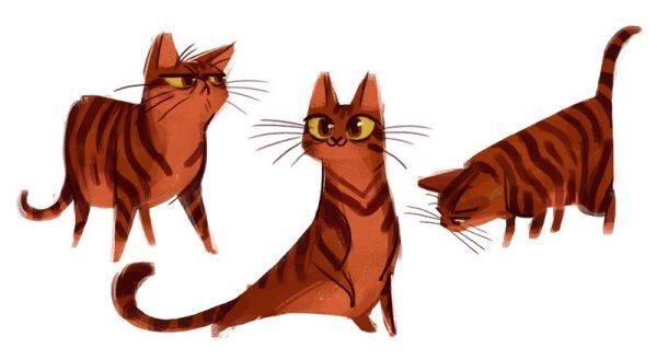 Daily Cat Drawings: Desenhos de Gatos todos os dias