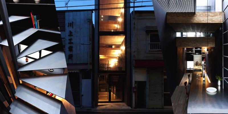 YUUA é o nome do estúdio de arquitetura que criou essa casa minimalista em Toshima, no Japão. O minimalismo existe aqui por que o terreno onde a casa foi construída não tem mais do que 2 metros de largura.