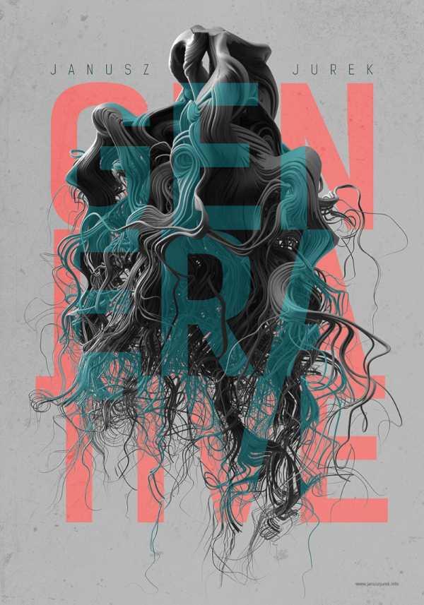 O Trabalho de Design Gráfico Abstrato de Janusz Jurek