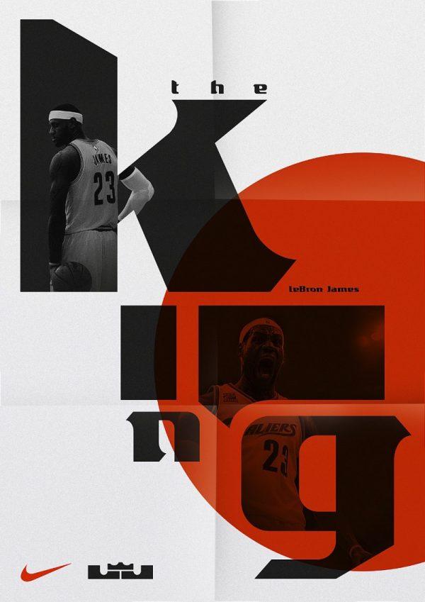 LeBron James e sua tipografia pela Sawdust