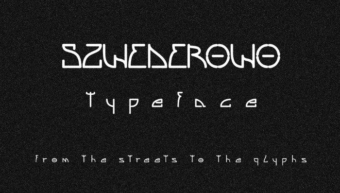 Marcin Zdrojewski, mais conhecido online como True Bob, é um designer polonês apaixonado por tipografia. Quando chegou a hora de colocar o nome na sua primeira família tipográfica, ele não pensou duas vezes. Foi assim que surgiu a Szwederowo, nomeada em homenagem ao conjunto habitacional onde cresceu na cidade de Bydgoszcz no centro da Polônia.