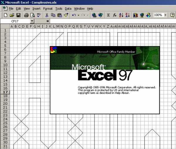 Excellens: Uma Fonte feita no EXCEL 97