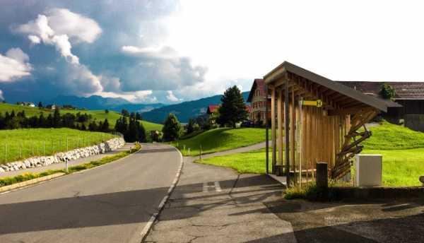 Os Pontos de Ônibus de Krumbach na Áustria