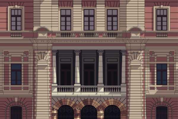 As Ilustrações Arquitetônicas da Fachada Frontal