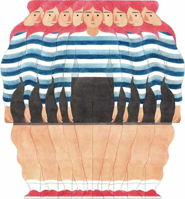 As Ilustrações Cheias de Curvas de Eleni Kalorkoti