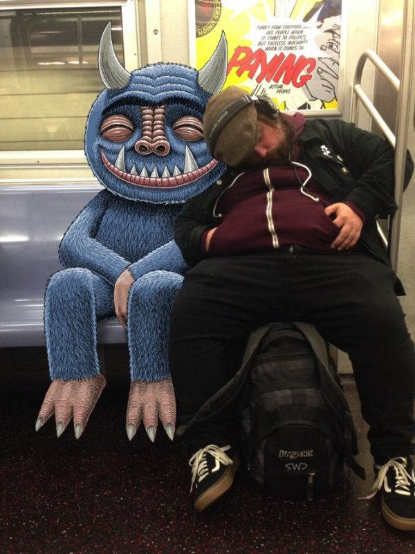 Subway Doodle: Desenhando os Monstros do Metrô de Nova Iorque