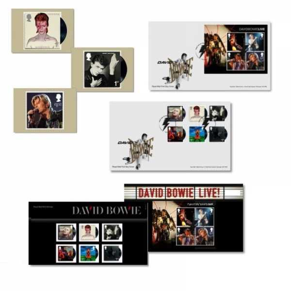 Selos do David Bowie pelo Royal Mail Britânico