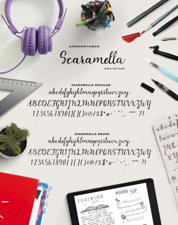 Scaramella – Tipografia Caligráfica na criação de Camila Scaramella