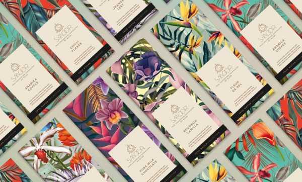 As Embalagens cheias de Ilustrações Botânicas que a Bloombox Brand Engineers criou para a Smoor Chocolates