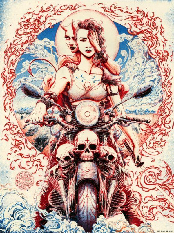 Os posters de shows do ilustrador Miles Tsang