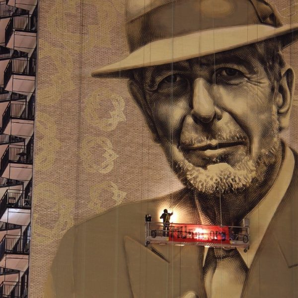 Um Mural para Leonard Cohen em Montreal por El Mac