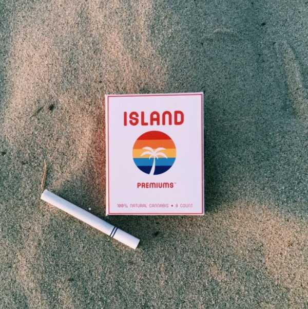 O Visual da Costa Oeste Norte Americana nas Embalagens dos Cigarros de Maconha da Island