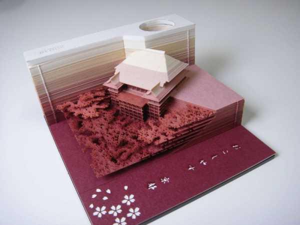 Omoshiro Block: Um Bloco de Papel que parece uma Escavação criado pelos japoneses da Triad
