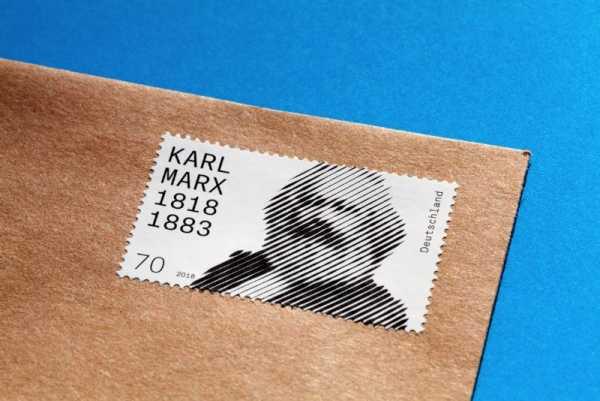 Celebrando 200 anos de Karl Marx com um selo dos Correios Alemães