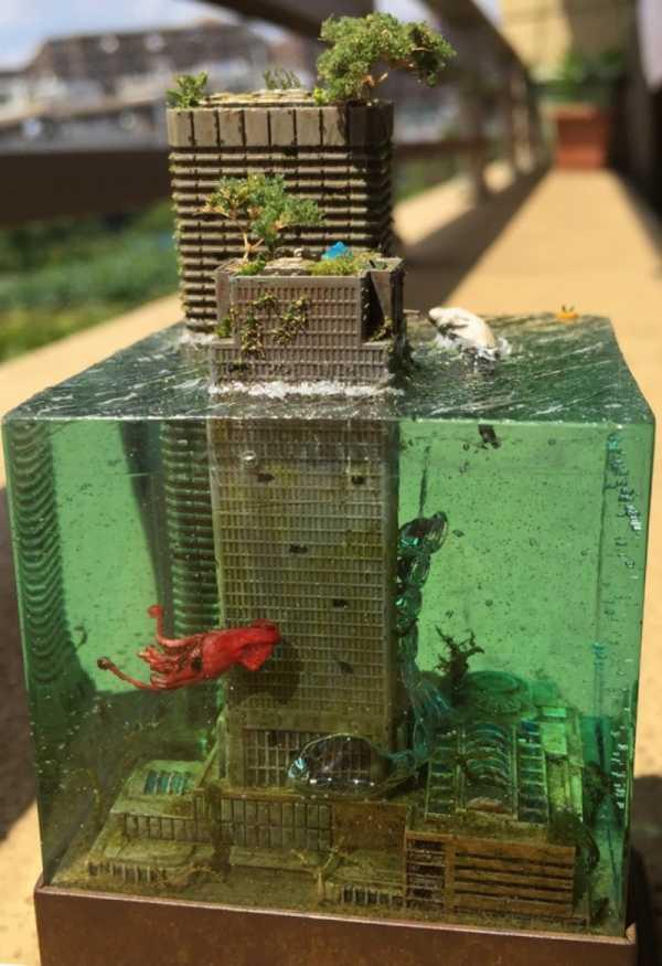 Miniaturas de Paisagens Urbanas Pós Apocalípticas
