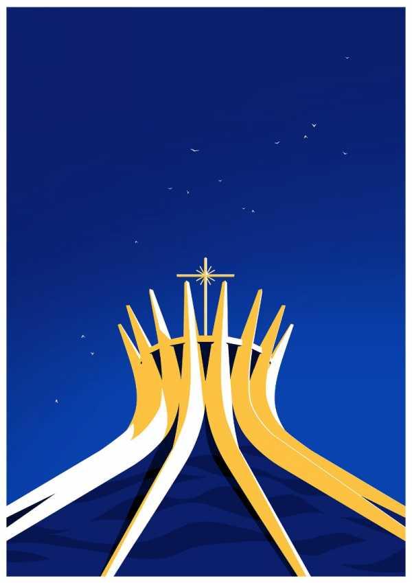 A Utopia Arquitetônica de Oscar Niemeyer na ilustração de Levente Szabo