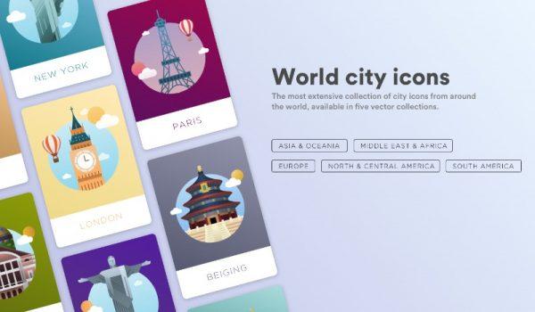Ícones para as Maiores Cidades do Mundo