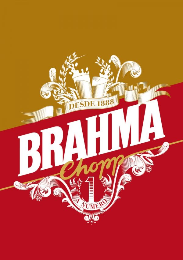 O lettering de Jackson Alves para a Cerveja Brahma