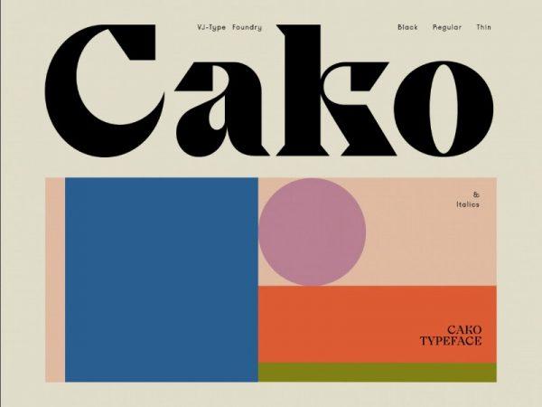 Cako: Uma fonte cheia de estilo criada por Jeremy Schneider