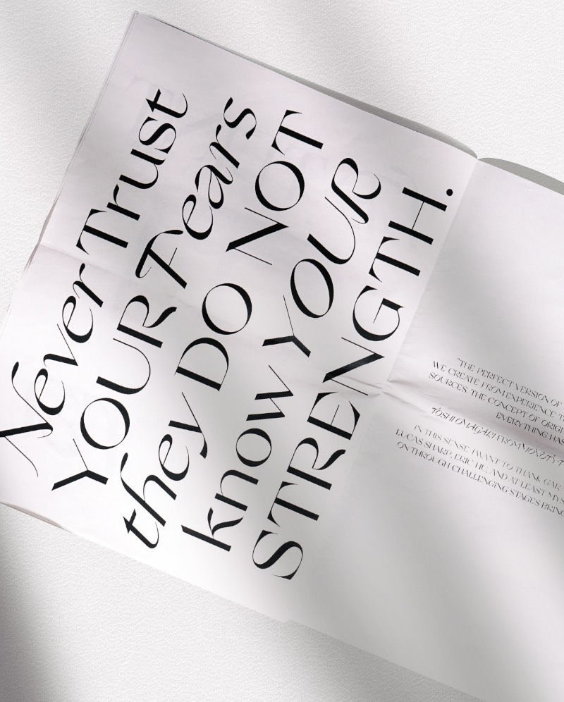 Nikolas Wrobel é um designer premiado com o seu trabalho criativo e, ao mesmo tempo, ainda experimenta com tipografia no que ele resolveu chamar de Nikolas Type. Foi através desse trabalho tipográfico que me deparei com seu portfólio. Mas especificamente com o que ele fez para o Typodarium 2020 que tenho aqui do lado do meu computador.