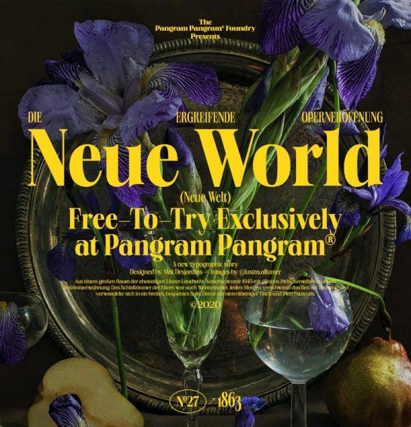 Neue World de Mat Desjardins na Pangram Pangram