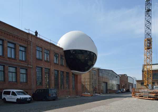 A Esfera de Niemeyer em Leipzig