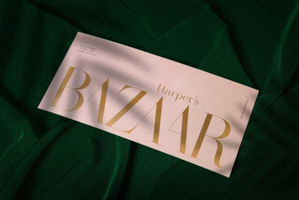 Um Projeto de Rebranding para a Harper's Bazaar por Miklós Kiss