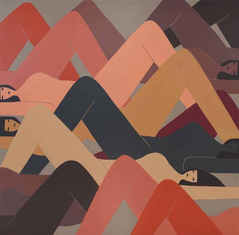 As figuras que Laura Berger pinta parecem dançar em harmonia nas imagens que ela cria. Cada personagem tem suas características individuais, mas aparecem como parte de um momento maior do que ela é. Esse foi um dos primeiros pontos que me capturou a atenção no trabalho dessa artista norte americana.